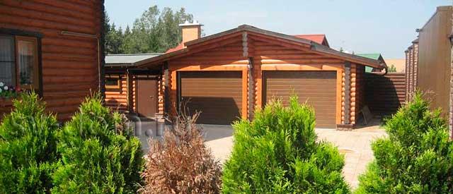 Выбираем гараж из бревна или дом из бревна с гаражом - на что обратить внимание