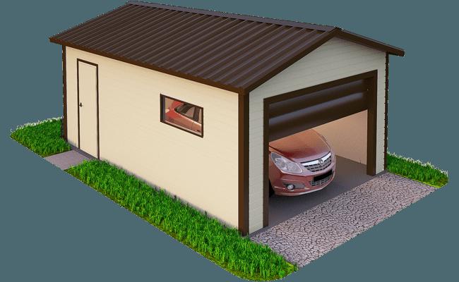 Строительство гаража из сэндвич панелей под ключ