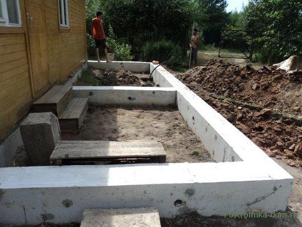 Как пристроить гараж к дому - фундамент
