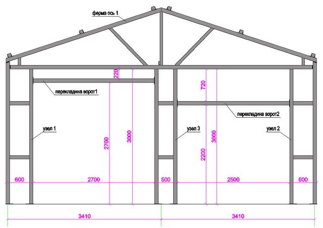 проект гаража для грузового автомобиля