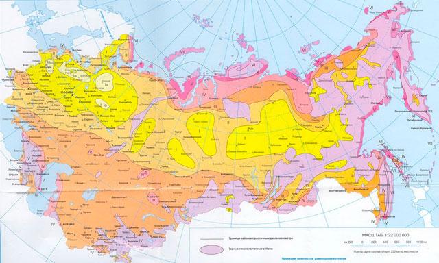 карта ветровых нагрузок