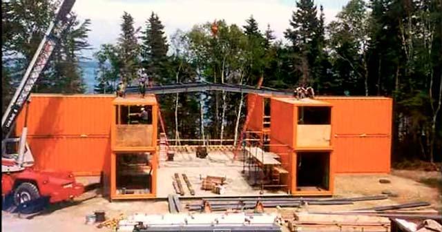 Строительство большого гаража из контейнеров