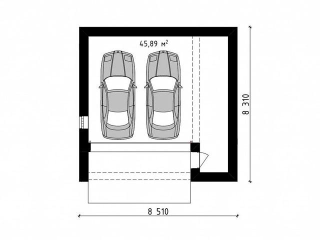 Ворота в гараж 8 на 8 лучше выбрать одни, если вы хотите ставить в него 3 автомобиля, обратите внимание на секционные ворота шириной 6 метров