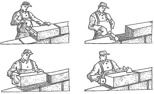 Укладка шлакоблоков