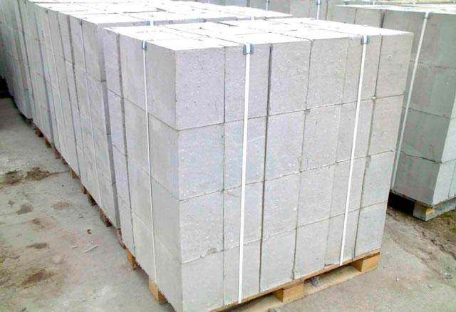 Пенобетон перевозится в таких вот упаковках.