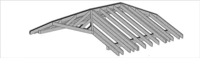 Полувальмовая крыша для гаража или дома