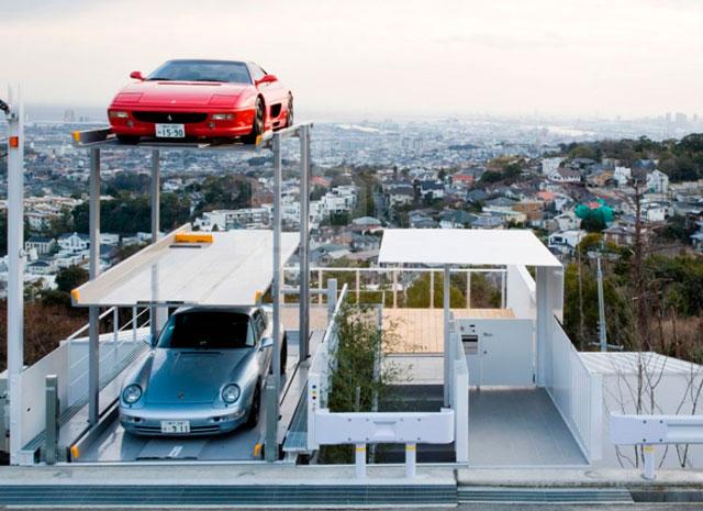 Строительство гаража на 3 автомобиля в Японии