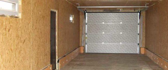 обшивку гаража ОСБ плитами
