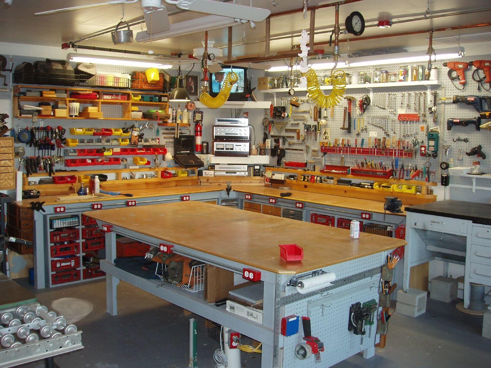 как сделать мастерскую в гараже