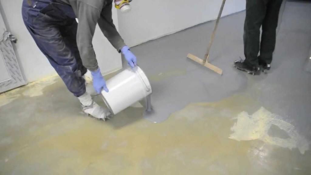 как сделать наливной пол в гараже