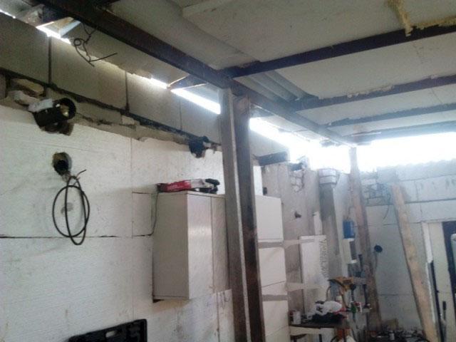 поднятие крыши гаража