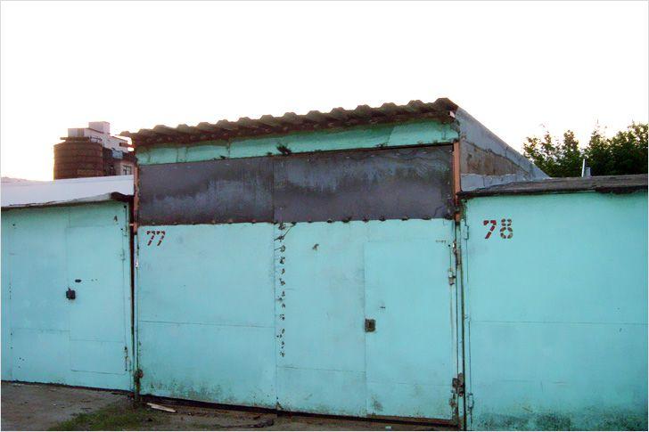 поднятие крыши металлического гаража