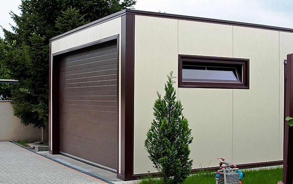 постройка гаража из сэндвич панелей