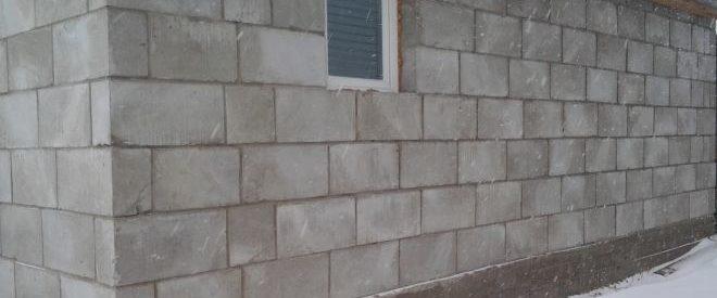 постройка гаража из шлакоблока