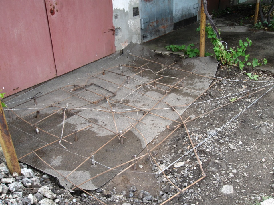 размер площадки перед гаражом