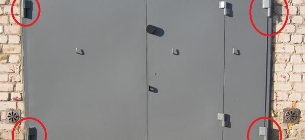 приварить гаражные петли к воротам